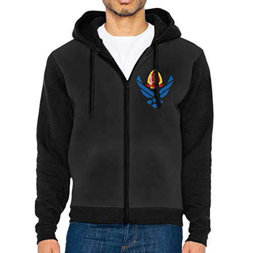 (OKOPI KJJDd US 1st Battalion 2nd Marines Men's Zipper Hoodies Sweatshirt Full-Zip Hoodie)