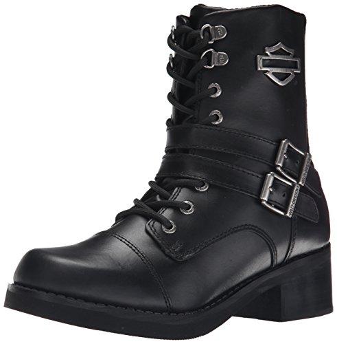 Harley-Davidson Women's Melinda Motorcycle Boot, Black, 8.5 M US