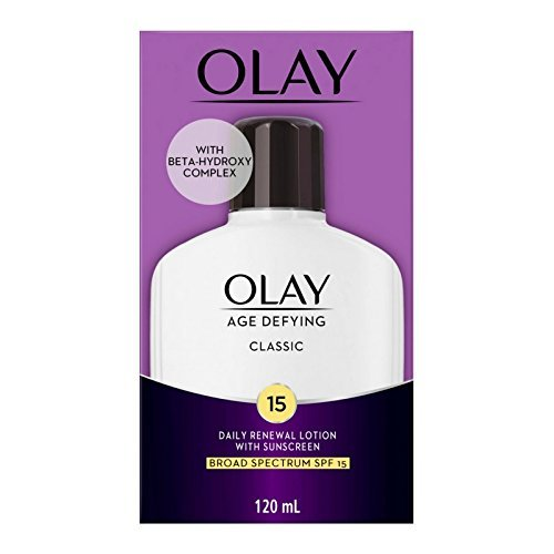 OLAY Age Defying Classic Daily Renewal Lotion, With Sunscreen, Classic,4 (Olay Oil Free Moisturizer)