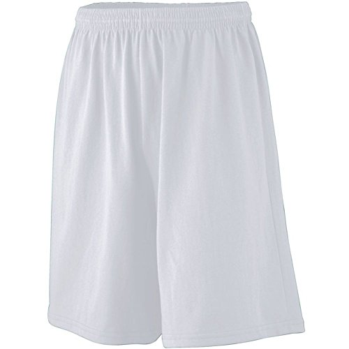 Augusta Athletic Longer Length Jersey Short-Youth, Ash, Small by Augusta Athletic