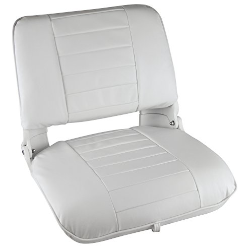 Wise Clam Shell Style Folding Boat Seat, with Cushions, White