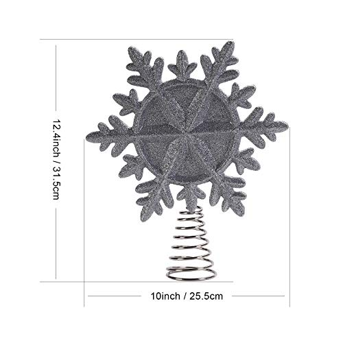 LSXD Christmas Snowflake Tree Topper (Silver)