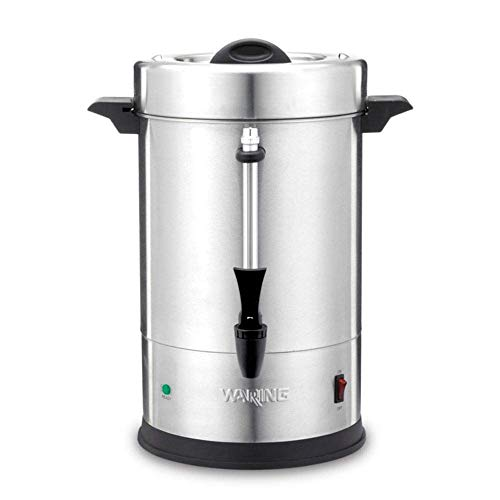 55 Cup Coffee Urn - Waring Commercial WCU550 55-Cup Commercial Heavy Duty Stainless Steel Coffee Urn, Silver