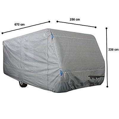 Beach & Pool Schutzhülle für Wohnwagen, Größe S - XL, Abdeckung für Caravan, Schutzhaube, Abdeckplane