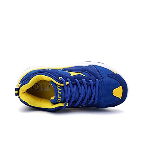 Mesh Exercise Men's Shoes Yellow Sneaker Shoes QZbeita Running Breathable wWCqdAnUE