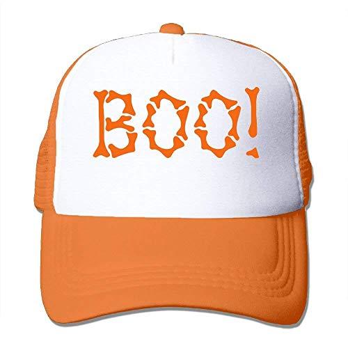 (ZOZGETU Halloween Boo! in The Bones Big Foam Snapback Hats Mesh Back Adjustable Cap Baseball)