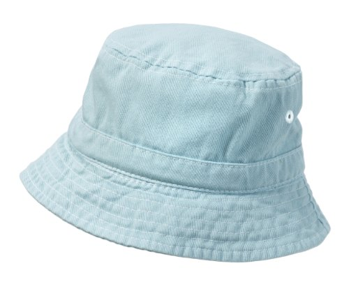 City Thread Unisex Baby Solid Wharf Hat Bucket Hat for Sun Protection SPF Beach Summer - Baby Blue - S(0-6M)