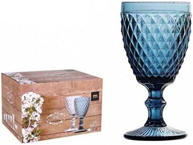 Azul Vaso cristal Sidari 270ml Set 6 unidades