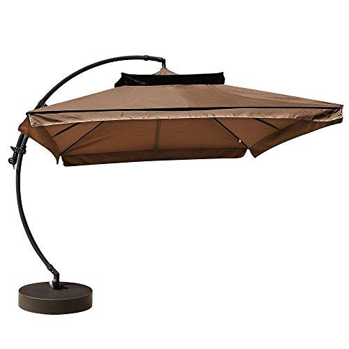 HOMDOX-ALU-LUXUS-Sonnenschirm-Ampelschirm-Marktschirm-Gartenschirm-300-x-300-cm-8-teilig-Rippen-quadratisch