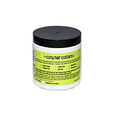 MopTop Curly Hair Custard Gel for Fine, Thick, Wavy, Curly & Kinky-Coily Natural hair, Anti Frizz Curl Moisturizer, Definer & Lightweight Curl Activator w/Aloe, great for Dry Hair.