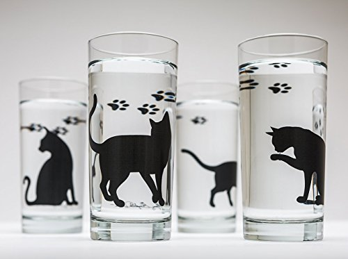 Cat Glassware - Set of 4