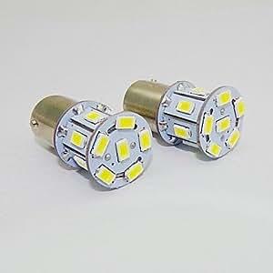 OXOX 1156 2w 13x5730smd 150-180lm luz blanca bombilla led para coche (12V DC, 2 unidades)