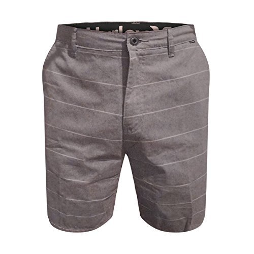 Hurley Men's Porter Shorts (Grey Stripe, 32)