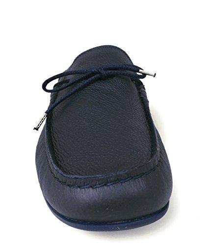 Zerimar Chaussures Bateau en Cuir pour Hommes | Chaussures Nautiques | Mocassins | Grandes Tailles 46-50 Bleu Marine 86cYq7yI0