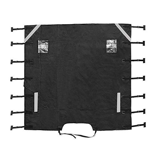 Guards Motorhome Thick Universal Front Towing Cover Anti Impact Reflective Strip with LED Light for Caravan Durable Protective