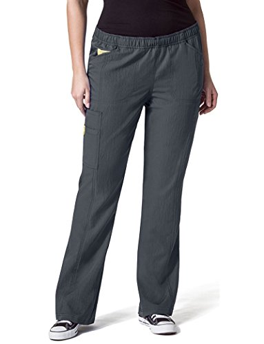 WonderWink Women's Size Boot Cut Cargo Pant, Pewter, 4 Extra Plus by WonderWink