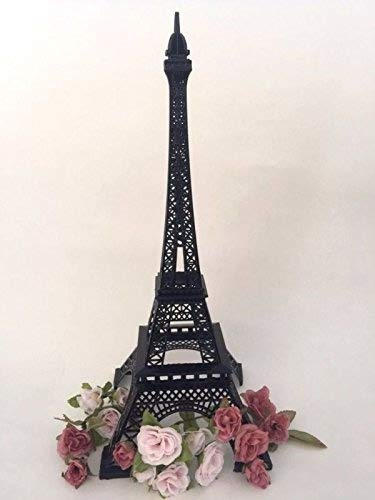 15 Inch (38cm) Black Metal Eiffel Tower Statue Figurine Replica -