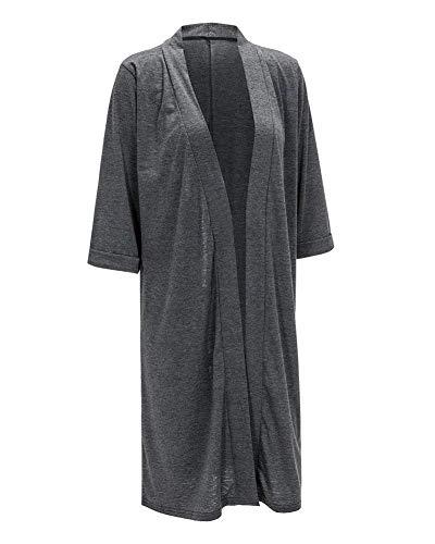 Rossi Autunno Donna A 3 Sciolto Outerwear Cardigan Invernali Lunga Lana Giacca Puro Manica Giovane Maglia Cappotto Colore Fashion Moda Grau 4 Eleganti Jacket HE6E1wx