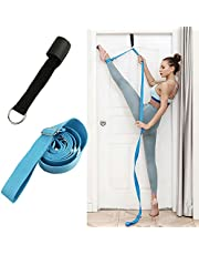 Yoga belt and leg stretcher, home ballet dance multifunctional belt, single-line horse training stretch belt, D-ring adjustable stretch belt, daily stretching exercise and dance equipment.