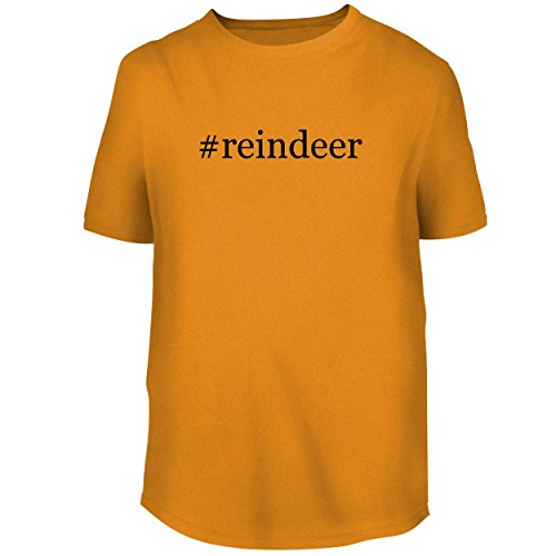 Glass Reindeer Spun (BH Cool Designs #Reindeer - Men's Graphic Tee, Gold, Medium)