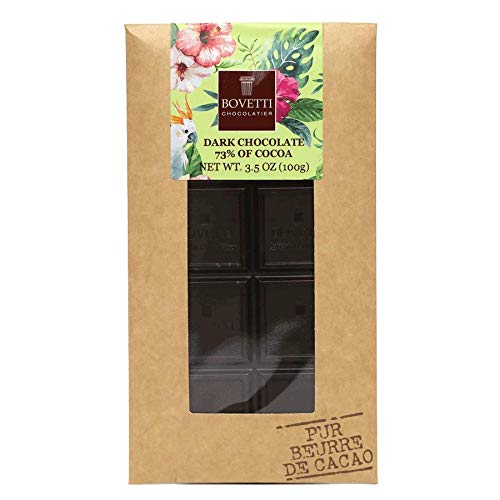 Artisan Cocoa Butter - Bovetti French Dark Chocolate Bar, 100g (5-PACK)