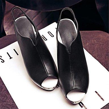 LvYuan Mujer-Tacón Robusto-Otro Zapatos del club Innovador-Sandalias-Boda Informal Vestido-Materiales Personalizados Semicuero-Negro Rojo Blanco Red