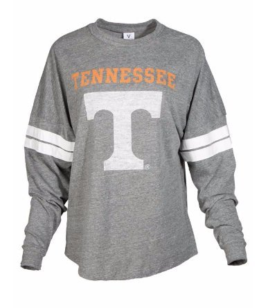 (Official NCAA University of Tennessee Volunteers, Knoxville Vols UT UTK Women's Long Sleeve Tri- Blend Football T-Shirt )