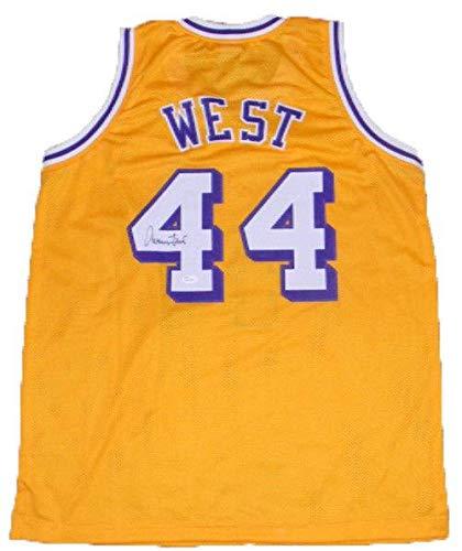 4a3868151 Jerry West Signed Jersey -  44 Gold - JSA Certified - Autographed NBA  Jerseys