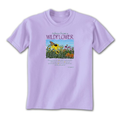 Advice From A Wildflower - Large Ladies T-shirt Lavender, Novelty Gift Apparel