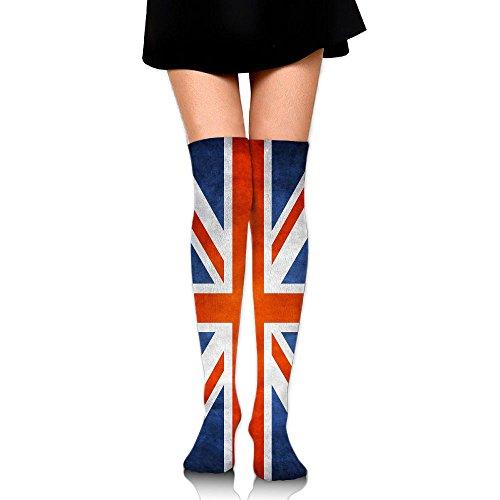 UK Flag Pattern Love Over The Knee Long Socks Tube Thigh-High Sock Stockings For Girls & Womens