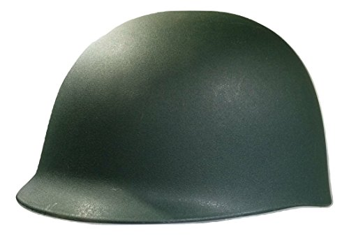 Dark Helmet Halloween Costumes (Nicky Bigs Novelties Adult Army Helmet Costume, Olive Drab Green, One Size)