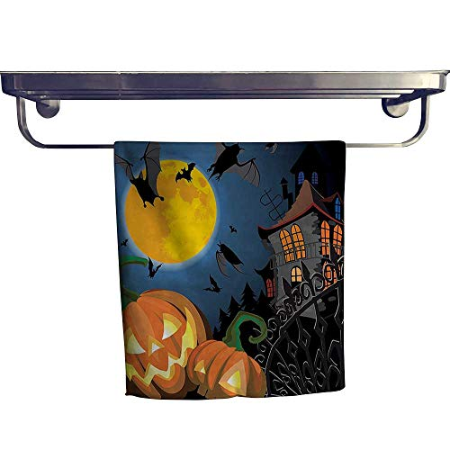Leigh home Dry Fast Towel, Gothic Scene Halloween Haunted P y Theme Trick or Treat Kids ,Gym Swim Hotel Use W 12