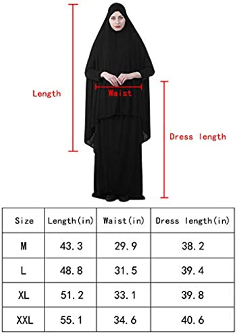 Black 6 Xl Big Size Hijab Scarf Hajj Umrah Ihram Or Prayer Hijab Khimar