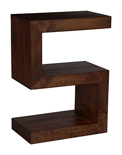 Dark Mango Wood Side Table Living Room Furniture Amazon Co Uk