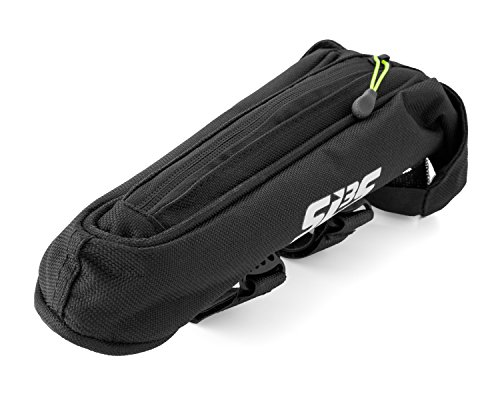 AERO Bike Bag Top Tube - Adjustable Velcro Straps - Stable and Secure - Low Profile - Carries All Your Essentials - For Cycling, Triathlon, Time Trial