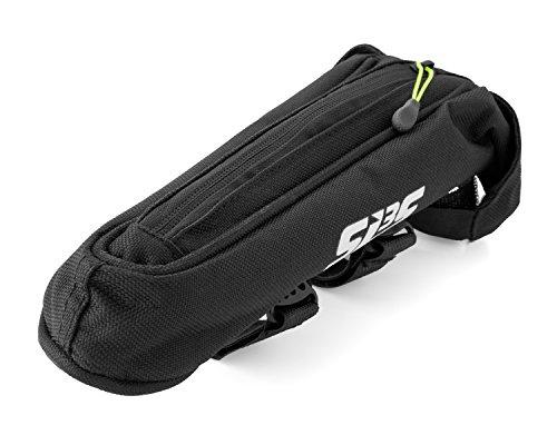 SLS3 Small AERO Bike Bag | Top Tube Bicycle Frame Bag | Adjustable Velcro Straps | Stable and Secure | Low Profile Stem Bag