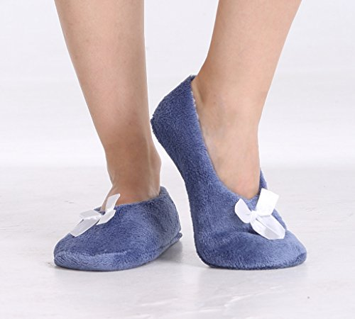 Pembrook Fuzzy Soft Coral Fleece Slippers - Slip On House Slippers for adults, women, girls