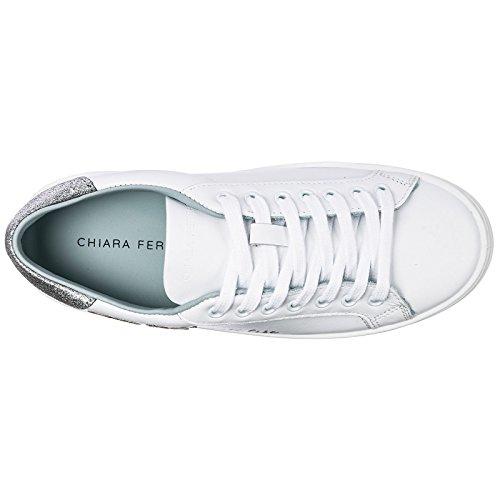Suite Sneakers Chaussures Baskets Ferragni Chiara Femme En Blanc Cuir 0qtOc7P