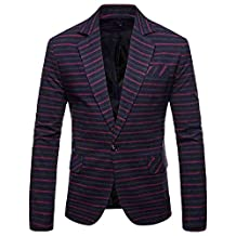 Men's Casual One Button Slim Fit Blazer Suit Jacket