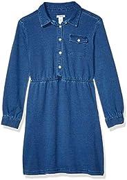 Amazon Brand - Spotted Zebra Girls Knit Denim Dress