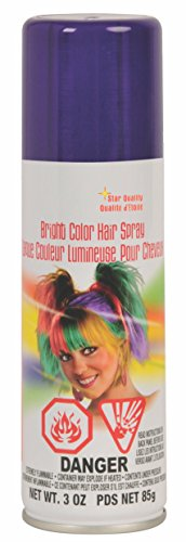 Rubie's Bright Color Hairspray, Purple -