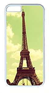 IMARTCASE iPhone 6 Case, Beautiful Retro Vintage Eiffel Tower Paris iPhone 6 Case TPU White