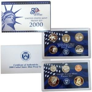 Case 10 Coin - Proof Set in Original Box 2000 S 10 Coin Proof