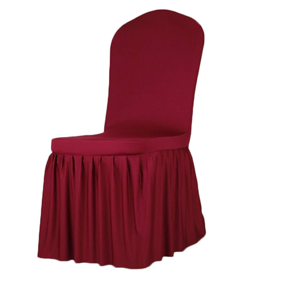 Kentop - Coprisedia elasticizzato, copertura per sedie a pieghe, rivestimento per sedie, per matrimoni, decorazioni, per sedie da hotel, argento, 1 * 1 * 1