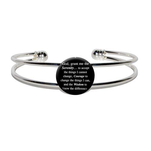Serenity Prayer Black Novelty Bracelet