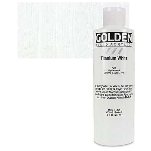 8 Oz Fluid Acrylic Color Paint Color: Titanium White