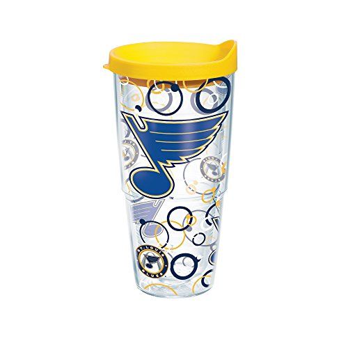 Tervis NHL St. Louis Blues Bubble Up Wrap Tumbler with Yellow Travel Lid, 24 oz, Clear (St Louis Blues Tervis compare prices)