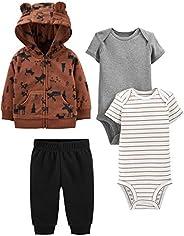 Simple Joys by Carter's Baby-Boys 4-Piece Fleece Jacket, Pant, and Bodysuit