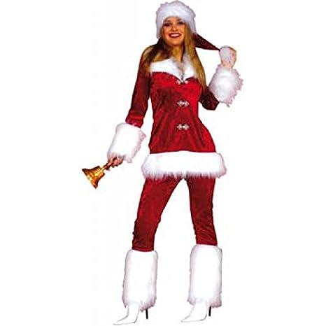 Natale Donna Santa Velour Costume Natale Babbo Natale Christmas 36 – 46 f096f6051f5