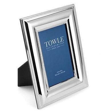 Towle Beaded Frame, 4 by 6-Inch, Silver Plated